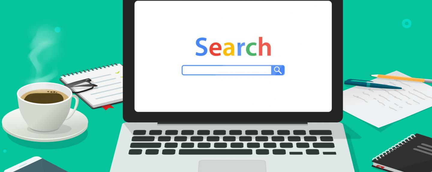 Laptop with search screen