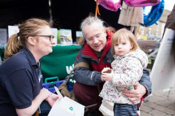 Local Healthwatch at an event promoting Healthwatch work
