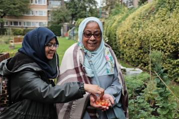 Islington Bangladesh Association runs a gardening club at Barnsbury Community Centre