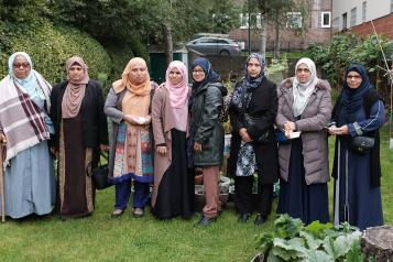Women from Islington's Bangladeshi community at a gardening project