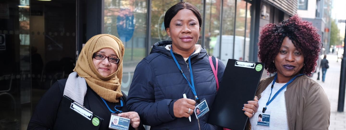 Healthwatch volunteers gathering views on services