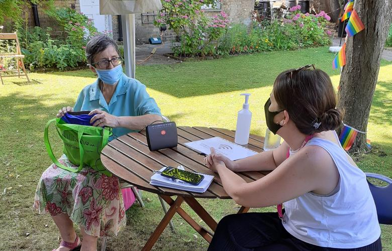 Face-to-face digital support offered outdoors